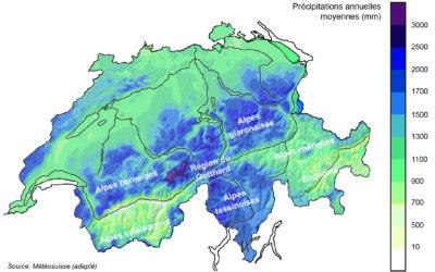 1.6 Répartition spatiale du pergélisol alpin