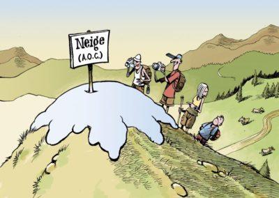Fig 5 – Expression du rapport de la société contemporaine face au retrait des glaciers. Source.
